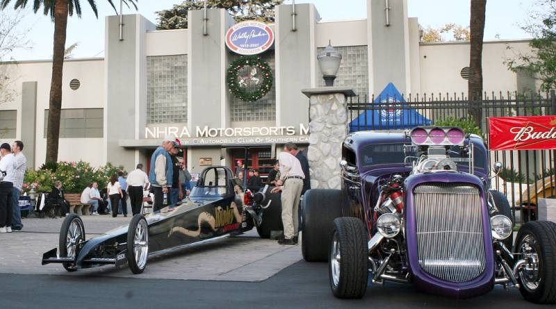 NHRA Museum, out front with Banks Sidewinder Dragster and hotrod