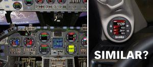 iDash 1.8 controls eerily similar to NASA Space Shuttle control board